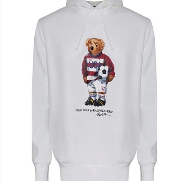 9e2e57072 NWT Polo Ralph Lauren bear soccer USA hoodie. M_5bc80620aaa5b81004ae642b